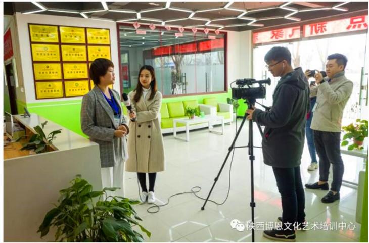 西安教育电视台到我校进行采访报道